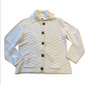 ‼️2/$35‼️Karen Scott Knit Cardigan Sweater Size L